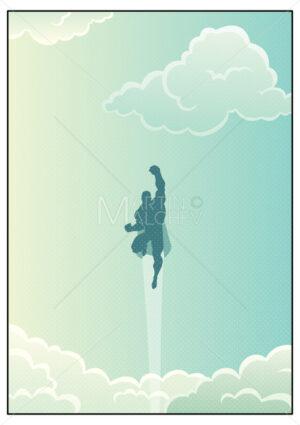 Superhero in Cloudscape - Martin Malchev