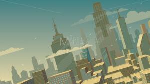 Tilted Cartoon Cityscape - Martin Malchev