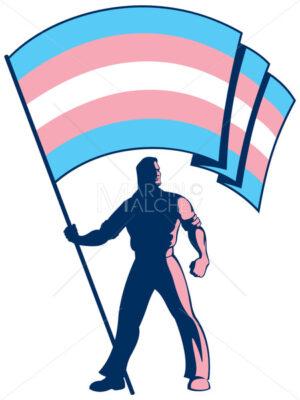 Transgender Pride Flag Bearer - Martin Malchev