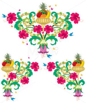 Tropical Floral Borders – Retro - Martin Malchev
