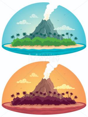 Tropical Island on White - Martin Malchev