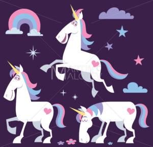 Unicorn Cartoon Set 2 - Martin Malchev