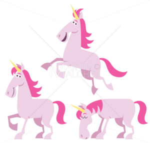 Unicorn Cartoon Set - Martin Malchev