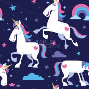 Unicorn Seamless Pattern - Martin Malchev