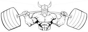 Viking Gym Mascot Grit Line Art - Martin Malchev