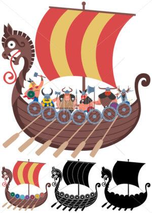 Viking Ship on White - Martin Malchev
