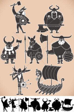 Viking Silhouettes - Martin Malchev