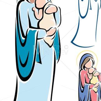 Virgin Mary and Baby Jesus - Martin Malchev