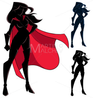 Superheroine Standing Tall Silhouette - Martin Malchev