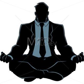 Businessman Meditating Silhouette - Martin Malchev