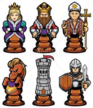 Chess Pieces Mascot Set - Martin Malchev