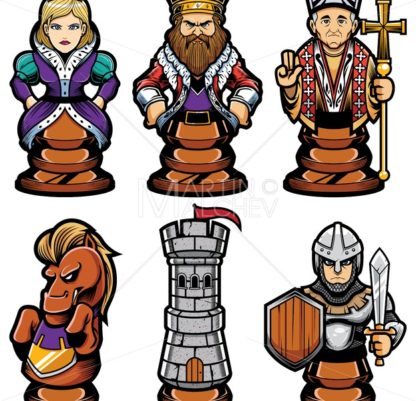Chess Pieces Mascot Set - Martin Malchev