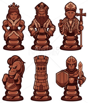 Chess Pieces Set Black - Martin Malchev