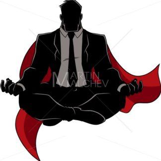 Super Businessman Meditating Silhouette - Martin Malchev
