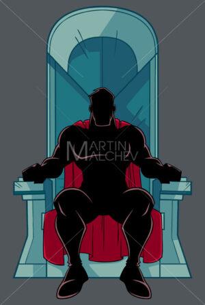 Superhero on Throne Silhouette - Martin Malchev