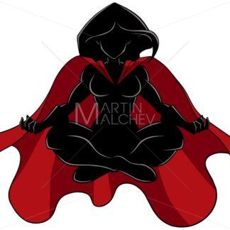 Superheroine Meditating Silhouette - Martin Malchev