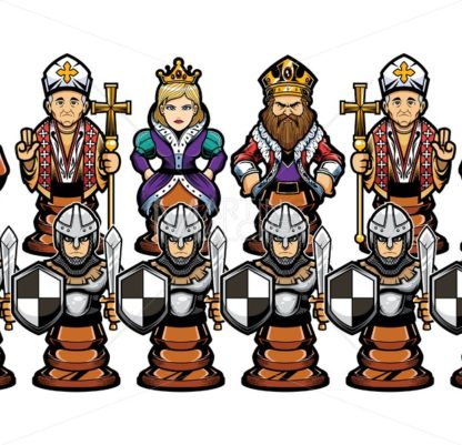 Chess Cartoon Figures - Martin Malchev