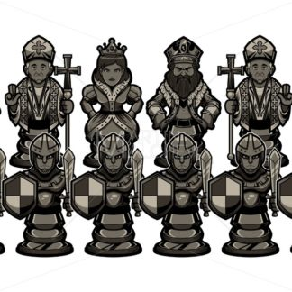Chess Cartoon Figures Black - Martin Malchev