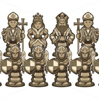 Chess Cartoon Figures White - Martin Malchev