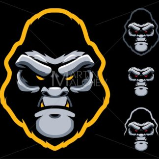 Gorilla Face Mascot - Martin Malchev