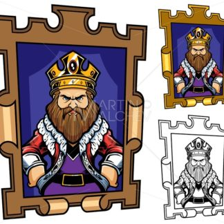 King Cartoon Portrait - Martin Malchev