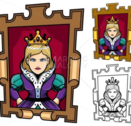 Queen Cartoon Portrait - Martin Malchev