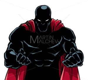 Raging Superhero Silhouette - Martin Malchev