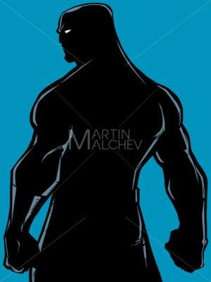 Superhero Back Battle Mode Silhouette - Martin Malchev