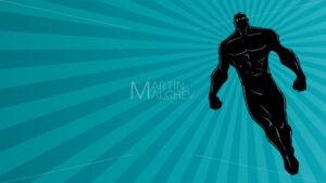 Superhero Flying Ray Light Background Silhouette - Martin Malchev