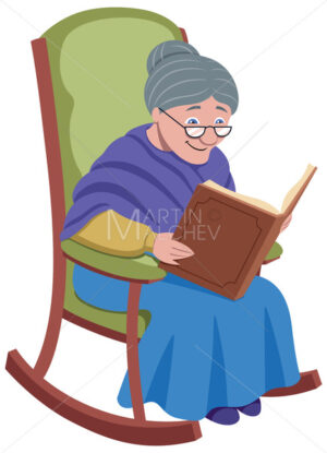 Grandmother on White - Clip-Art and Video