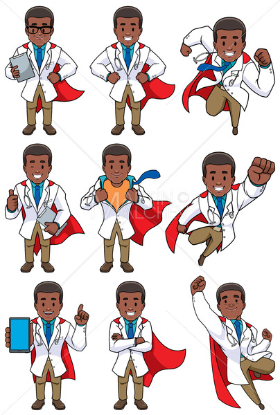 Super Doc African - Clip-Art and Video