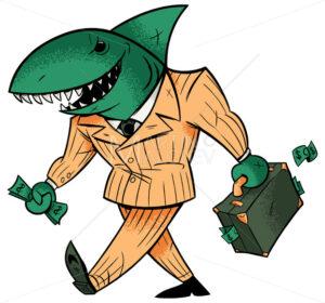 Business Shark Isolated - Martin Malchev
