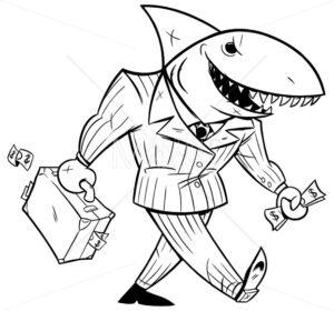 Business Shark Line Art - Martin Malchev