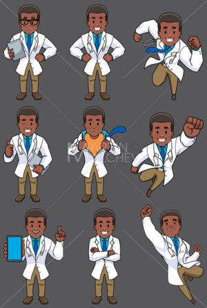 Doctor African Set - Clip-Art and Video