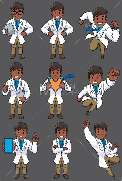 Doctor Indian Set - Clip-Art and Video