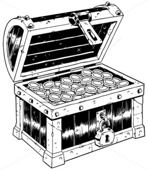 Treasure Chest Line Art - Martin Malchev