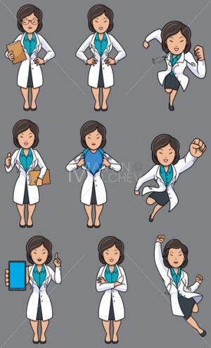 Doctor Asian Female Set - Martin Malchev