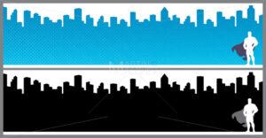 Superhero City Banners - Martin Malchev