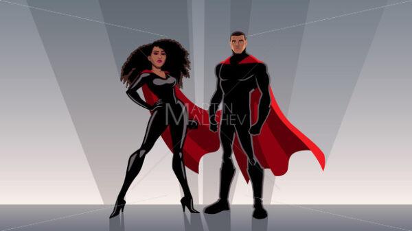 Superhero Couple Black - Martin Malchev