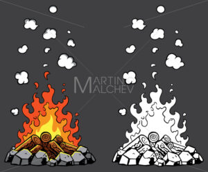 Campfire Cartoon Set - Martin Malchev