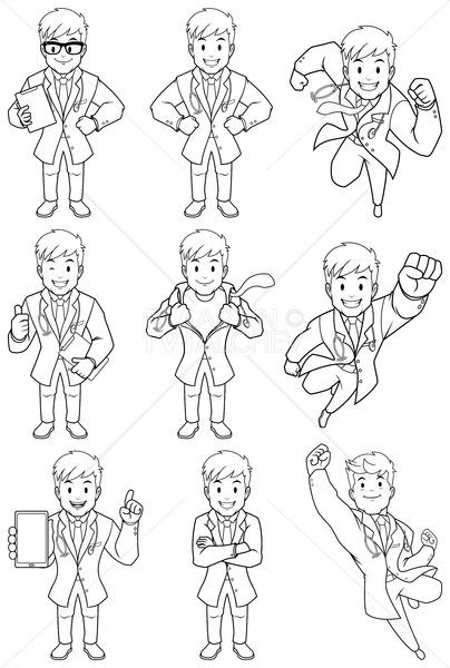 Doctor Line Art - Martin Malchev