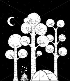 Forest Camp Black and White - Martin Malchev