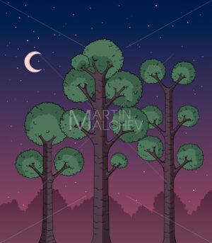 Forest at Night - Martin Malchev