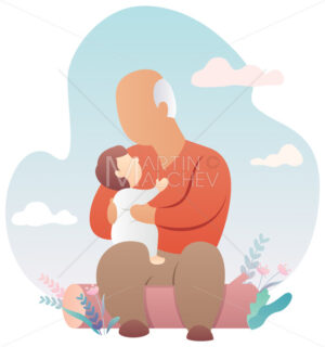 Grandfather and Baby - Martin Malchev