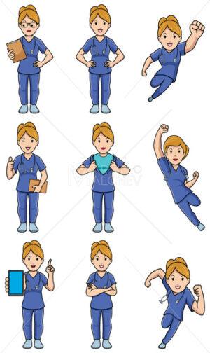 Nurse Caucasian Female Set - Martin Malchev