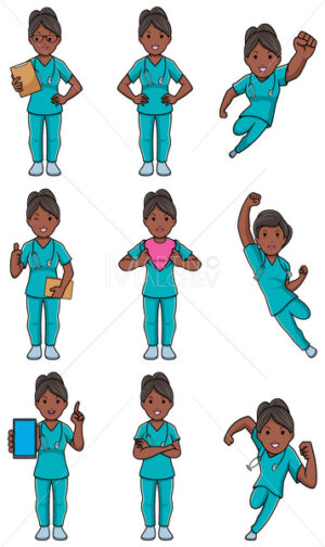 Nurse Indian Female Set - Martin Malchev