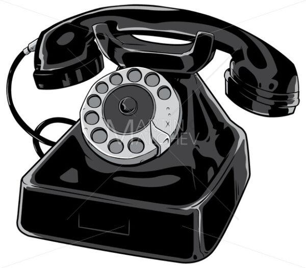 Old Phone on White - Martin Malchev