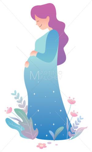Pregnant Woman on White - Martin Malchev