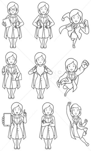 Super Doc Asian Female Line Art - Martin Malchev