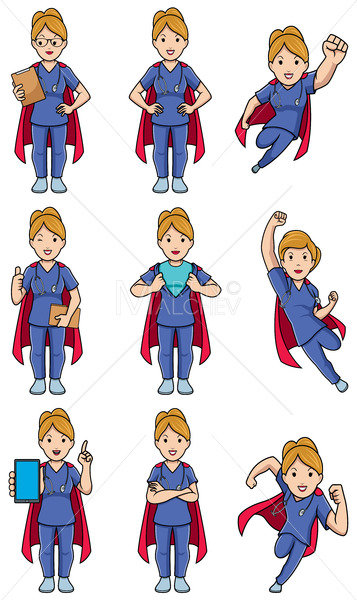 Super Nurse Caucasian Female Set - Martin Malchev